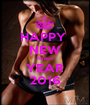 HAPPY  NEW fitness YEAR 2016 - Personalised Poster A1 size