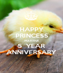 HAPPY PRINCESS MARTHA 5  YEAR ANNIVERSARY - Personalised Poster A1 size