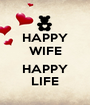 HAPPY WIFE  HAPPY LIFE - Personalised Poster A1 size