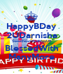 HappyBDay 2UDarnisha SweetheartAndMayUB BlessedWith ManyMore - Personalised Poster A1 size