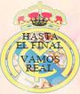 HASTA EL FINAL  VAMOS REAL - Personalised Poster A1 size