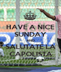 HAVE A NICE SUNDAY AND SALUTATE LA CAPOLISTA - Personalised Poster A1 size