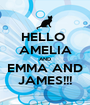 HELLO  AMELIA AND EMMA AND JAMES!!! - Personalised Poster A1 size