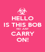 HELLO IS THIS BOB NO JUST CARRY ON! - Personalised Poster A1 size
