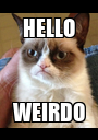 HELLO WEIRDO - Personalised Poster A1 size