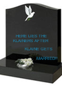 HERE LIES THE KLAINERS AFTER            KLAINE GETS                        MARRIED!!  - Personalised Poster A1 size
