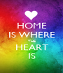 HOME IS WHERE THE HEART IS - Personalised Poster A1 size