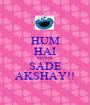 HUM HAI SIDHE SADE AKSHAY!! - Personalised Poster A1 size