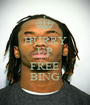 HURRY UP AND FREE BING - Personalised Poster A1 size