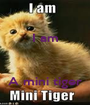 I am    A mini tiger - Personalised Poster A1 size