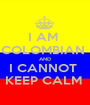 I AM  COLOMBIAN  AND I CANNOT  KEEP CALM  - Personalised Poster A1 size