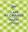 I AM IN CHARGE DEAL WITH  IT!!!!!!! - Personalised Poster A1 size