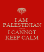 I AM  PALESTINIAN AND I CANNOT KEEP CALM - Personalised Poster A1 size