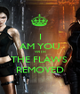 I AM YOU WITH THE FLAWS  REMOVED - Personalised Poster A1 size