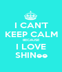 I CAN'T KEEP CALM BECAUSE I LOVE SHINee - Personalised Poster A1 size