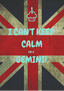 I CAN'T KEEP CALM I'M A GEMINI!  - Personalised Poster A1 size
