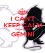 I CAN'T KEEP CALM I'M A SEXY GEMINI  - Personalised Poster A1 size