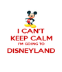 I CAN'T KEEP CALM I'M GOING TO DISNEYLAND  - Personalised Poster A1 size