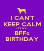 I CAN'T KEEP CALM IT'S MY  BFFs BIRTHDAY - Personalised Poster A1 size