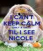 I CAN'T KEEP CALM ONLY 8 DAYS  TIL I SEE NICOLE  - Personalised Poster A1 size
