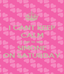 I CANT KEEP CALM I get to see SIMONE ON SATURDAY - Personalised Poster A1 size