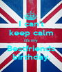 I can't keep calm it's my Bestfriends birthday. - Personalised Poster A1 size