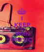 I KEEP CALM With MUSIC - Personalised Poster A1 size