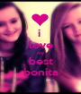 i  love my best bonita - Personalised Poster A1 size
