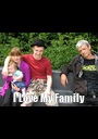 I Love My Family - Personalised Poster A1 size