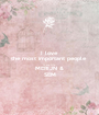 I love  the most important people  in my life MERIJN & SEM - Personalised Poster A1 size