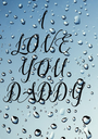 I  LOVE  YOU  DADDY - Personalised Poster A1 size