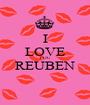 I LOVE YOU REUBEN  - Personalised Poster A1 size