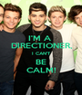 I'M A  DIRECTIONER, I CAN'T BE CALM! - Personalised Poster A1 size