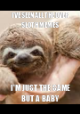 I'VE SEEN ALL THE OVER SLOTH MEMES I'M JUST THE SAME BUT A BABY - Personalised Poster A1 size