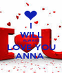 I  WILL ALWAYS LOVE YOU ANNA  - Personalised Poster A1 size