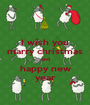 I wish you marry christmas and happy new year - Personalised Poster A1 size