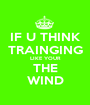 IF U THINK TRAINGING LIKE YOUR THE WIND - Personalised Poster A1 size