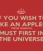 IF YOU WISH TO MAKE AN APPLE PIE FROM SCRATCH YOU MUST FIRST INVENT THE UNIVERSE - Personalised Poster A1 size