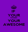 IF  YOUR TAGGED  YOUR AWESOME - Personalised Poster A1 size
