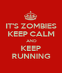 IT'S ZOMBIES KEEP CALM AND KEEP RUNNING - Personalised Poster A1 size
