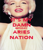 IT'S MY DAMN BIRTHDAY ARIES NATION - Personalised Poster A1 size
