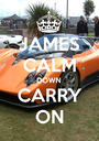 JAMES CALM DOWN CARRY ON - Personalised Poster A1 size