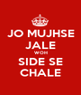 JO MUJHSE JALE WOH SIDE SE CHALE - Personalised Poster A1 size