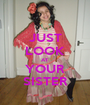 JUST LOOK AT YOUR SISTER - Personalised Poster A1 size