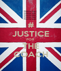 # JUSTICE FOR THE COACH - Personalised Poster A1 size