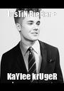 JusTiN BieBer + KaYlee krUgeR - Personalised Poster A1 size