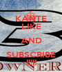 KANTE LIKE AND SUBSCRIBE !!!!! - Personalised Poster A1 size