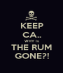 KEEP CA.. WHY Is THE RUM GONE?! - Personalised Poster A1 size