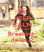 KEEP CALM 10 dias para Breaking  dawn 2 - Personalised Poster A1 size