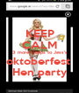 KEEP CALM 3 more sleeps to Jess's oktoberfest  Hen party - Personalised Poster A1 size